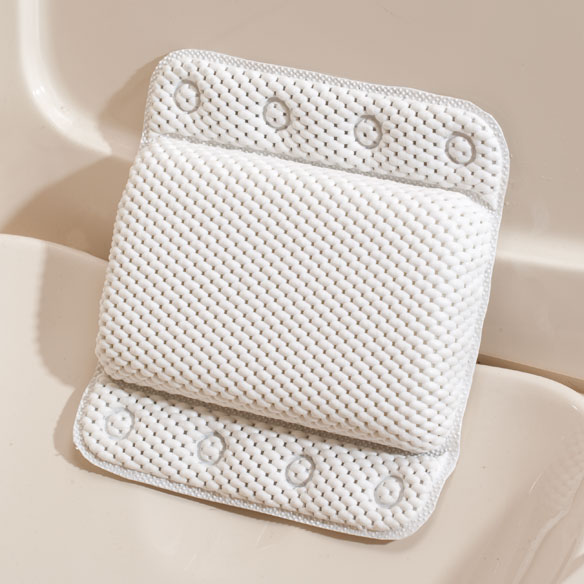 White Lattice Bath Pillow - View 2