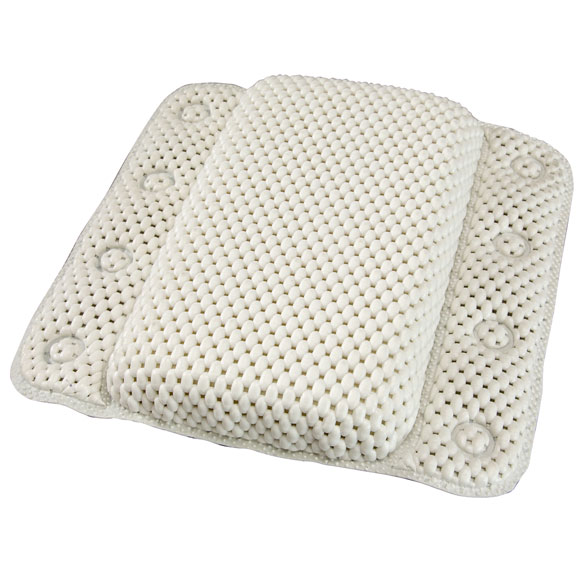 White Lattice Bath Pillow - View 3