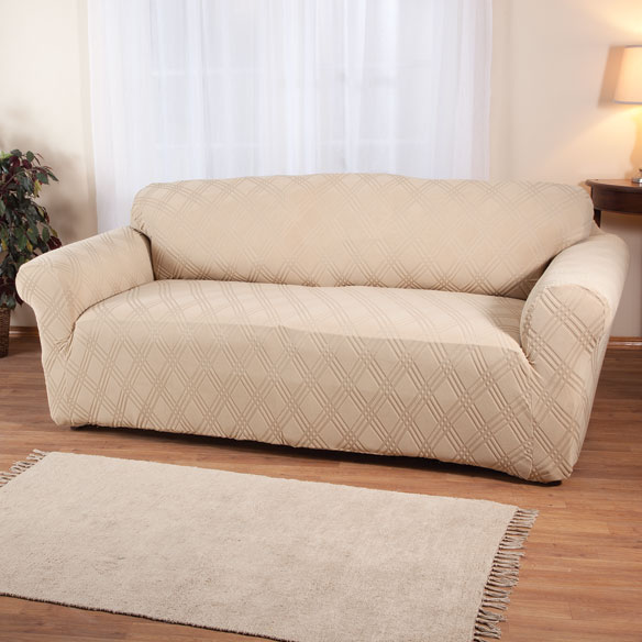 Double Diamond Stretch Sofa Cover - View 4