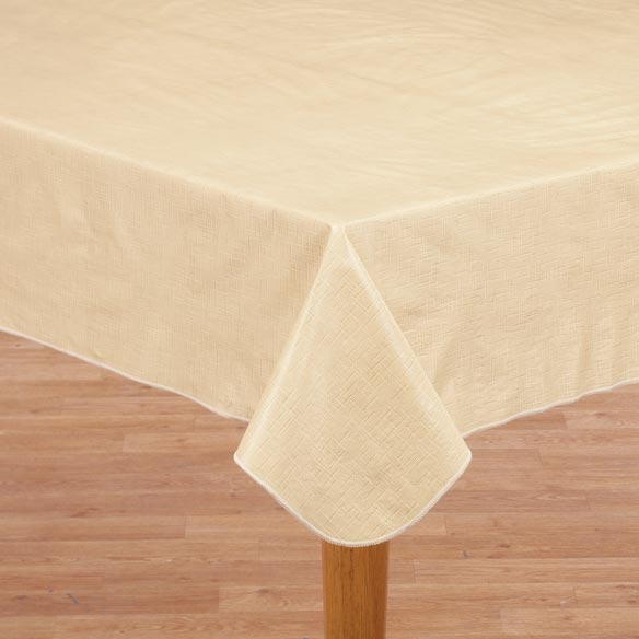 illusion weave vinyl drop table cover vinyl tablecloth