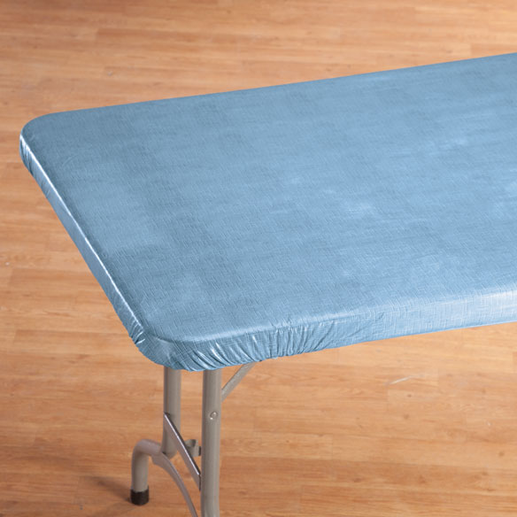 Illusion Weave Vinyl Elasticized Banquet Table Cover - View 4
