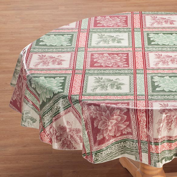 Festive Jacquard Vinyl Table Cover - View 2