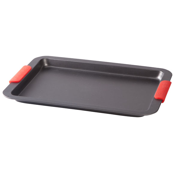 Baking Sheet with Red Silicone Handles - View 2