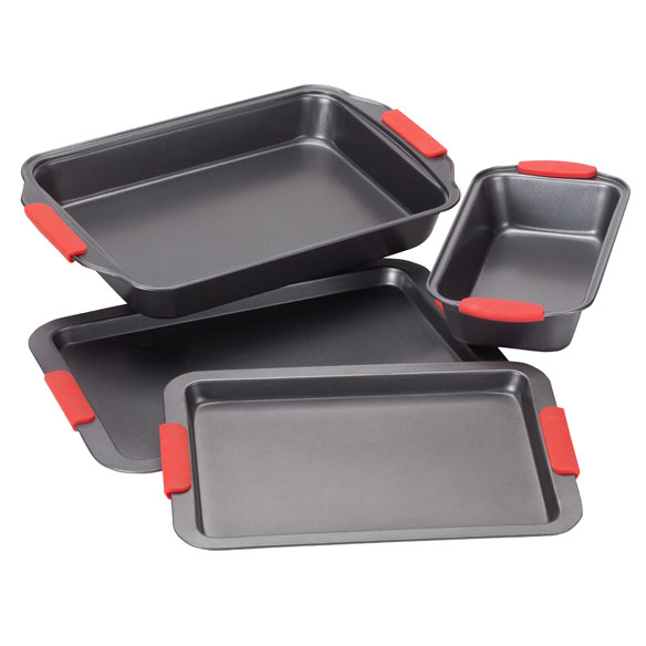 Cook's Essentials Baking Set with Red Silicone Handles - View 2