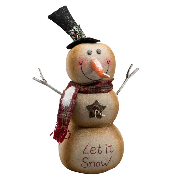 """Let it Snow"" Snowman - View 2"
