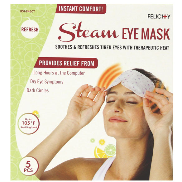 Disposable Steam Eye Masks, Set of 5 - View 3