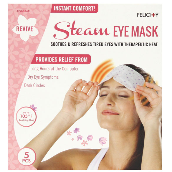 Disposable Steam Eye Masks, Set of 5 - View 5