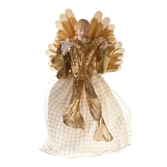 Fiber Optic Angel Tree Topper - View 2
