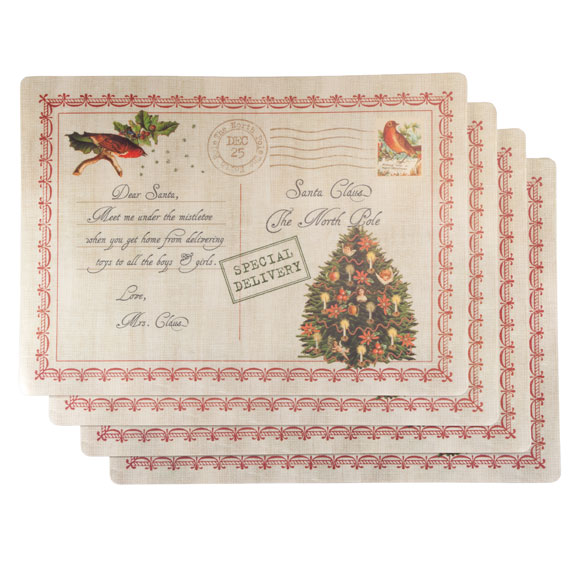 Letters to Santa Vinyl Placemats, Set of 4 - View 2