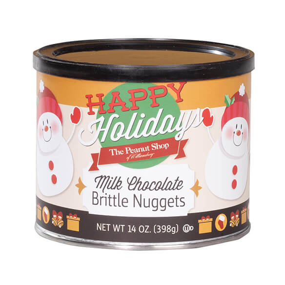 The Peanut Shop® Happy Holidays Milk Chocolate Brittle Nuggets - View 2