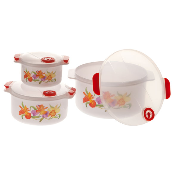 Floral Microwave Pot Set - View 2