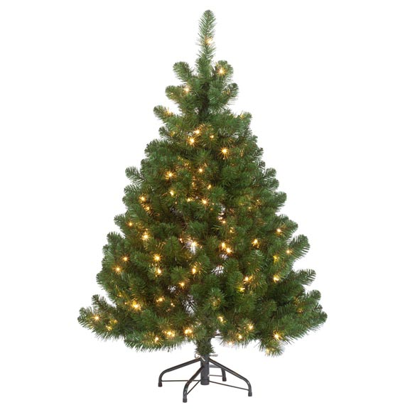 4.5' Pre-lighted Oregon Fir - View 2