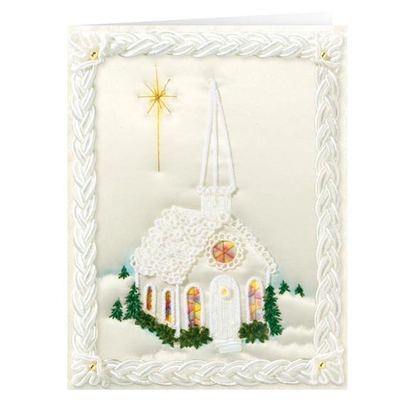 Satin Chapel Non-Personalized Card Set of 20 - View 2