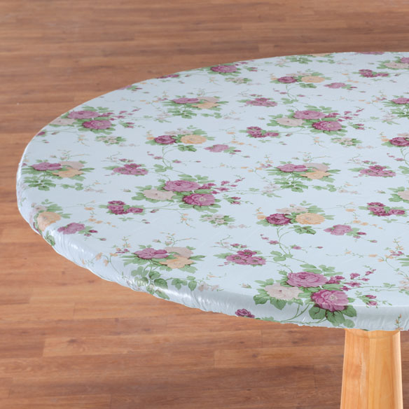 Vintage Floral Vinyl Elasticized Tablecovers by Home-Style Kitchen™ - View 2