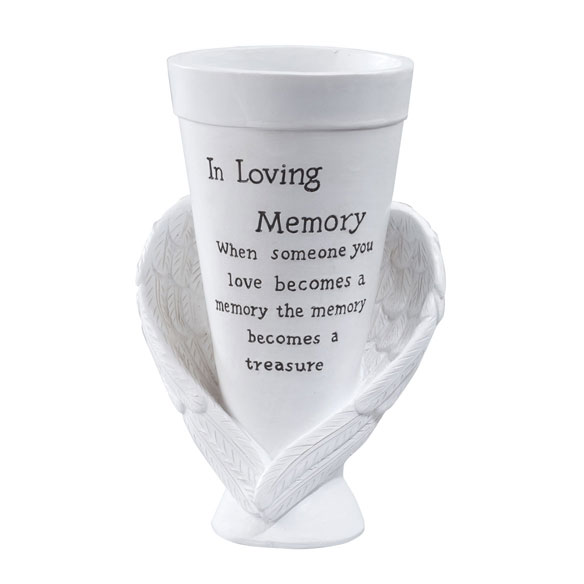 Resin Memorial Cemetery Vase by Maple Lane Creations™ - View 2