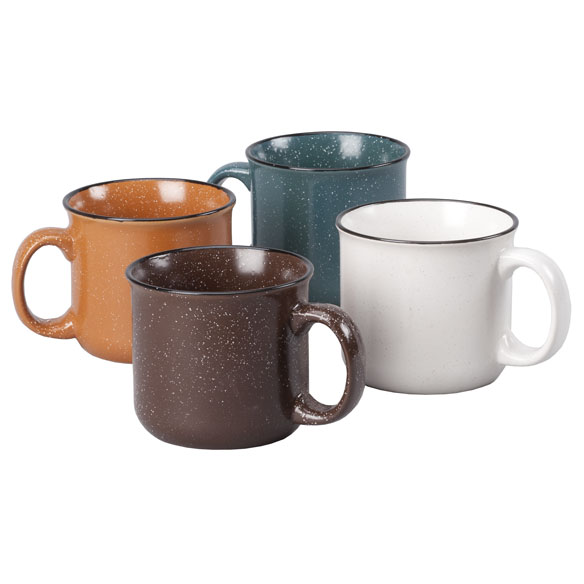 Speckled Ceramic Cups, Set of 4 - View 2