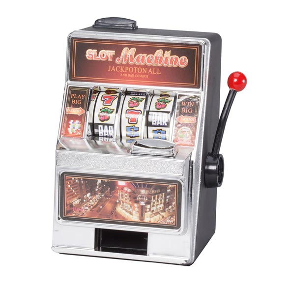 Small Slot Machine with Lights and Bank - View 2