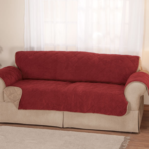 Plush to Suede Waterproof Sofa Protector by OakRidge Comforts™ - View 2