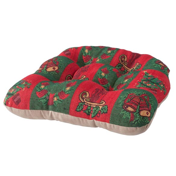 Reversible Holiday Checkers Chair Pad - View 2