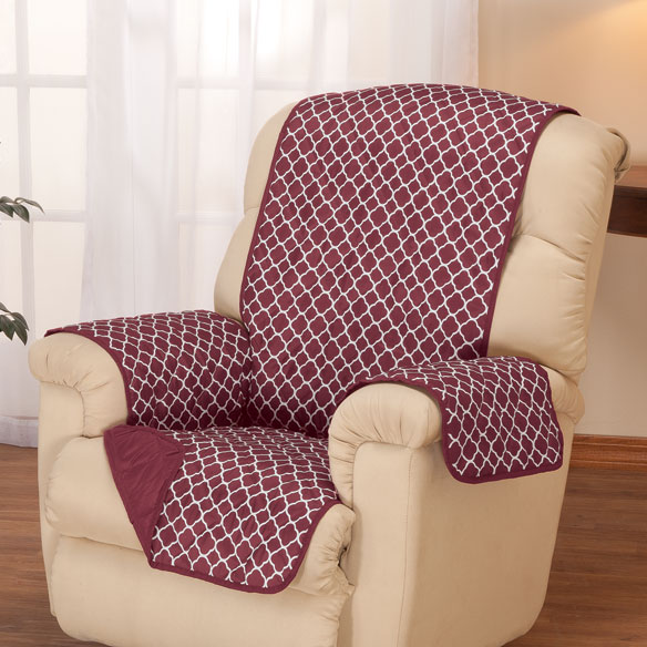 Deluxe Reversible Fashion Recliner Cover by OakRidge Comforts™ - View 2