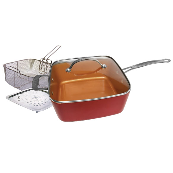 As Seen on TV Red Copper™ Square Pan 5 Piece Set - View 2
