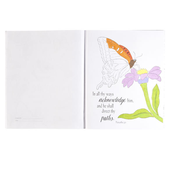 Butterflies, Blossoms & Blessings Coloring Book - View 2
