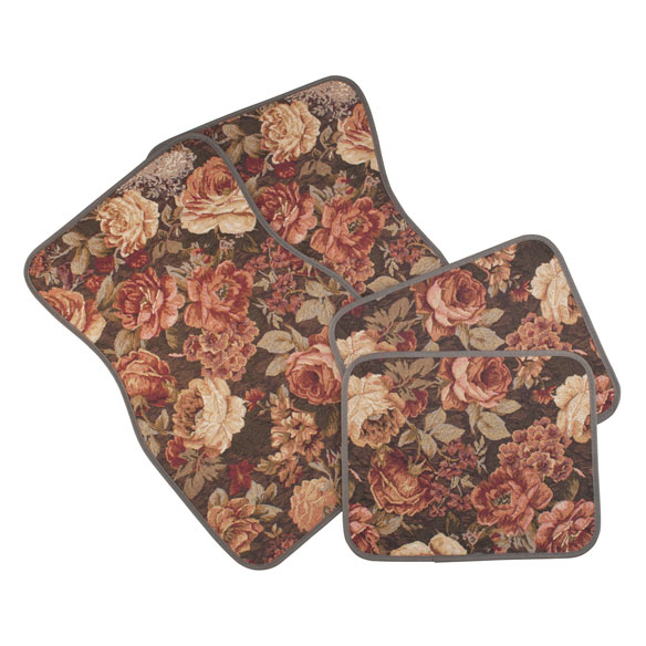 Floral Tapestry Car Mats Set of 4 - View 2