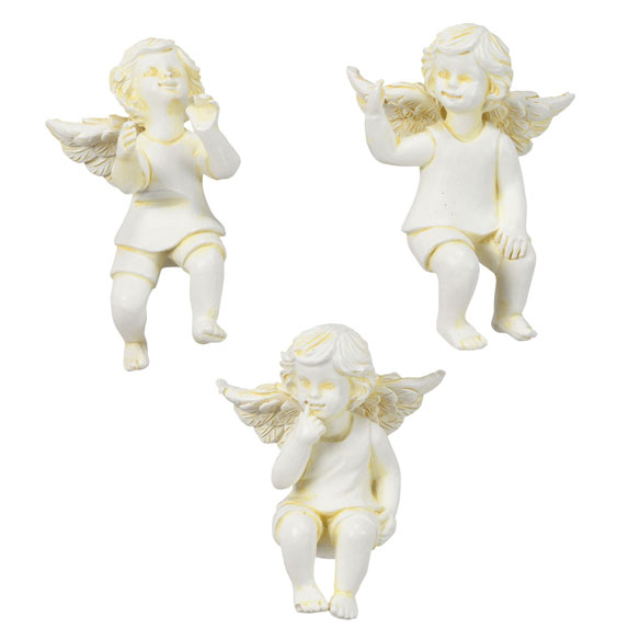 Resin Cherub Pot Sitters, Set of 3 by Maple Lane Creations™ - View 2