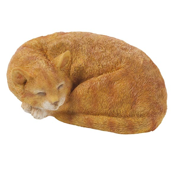 Resin Sleeping Cat Statue - View 2