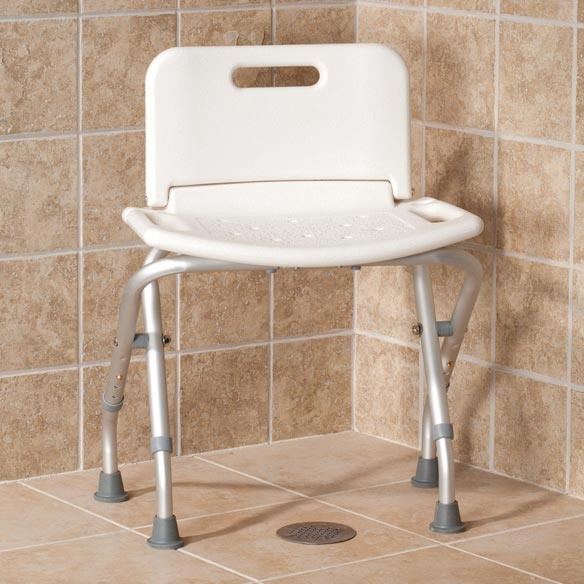 Folding Bath Seat with Back - View 2