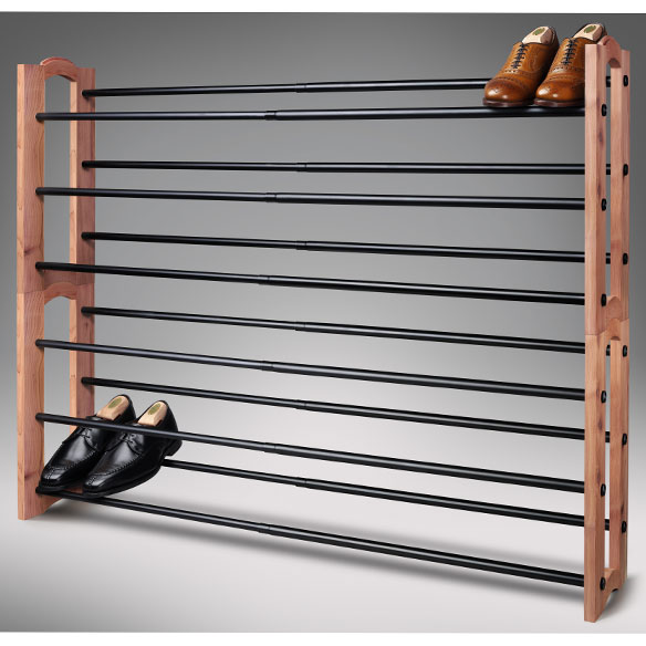 Woodlore® Expandable Cedar Shoe Rack - View 3