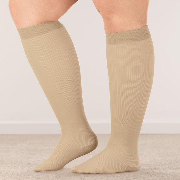 Healthy Steps™ Wide Calf Compression Socks, 8–15 mmHg - View 2