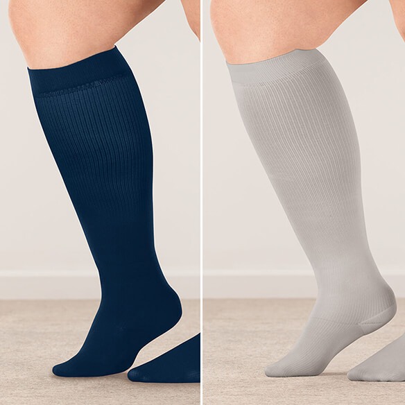Healthy Steps™ Wide Calf Compression Socks, 8–15 mmHg - View 3