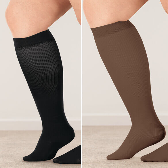 Healthy Steps™ Wide Calf Compression Socks, 15–20 mmHg - View 4