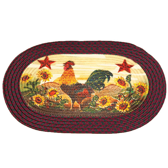 Rooster in Sunflowers Braided Rug by OakRidge™ - View 2