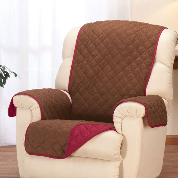 Reversible Microfiber Recliner Cover - View 2