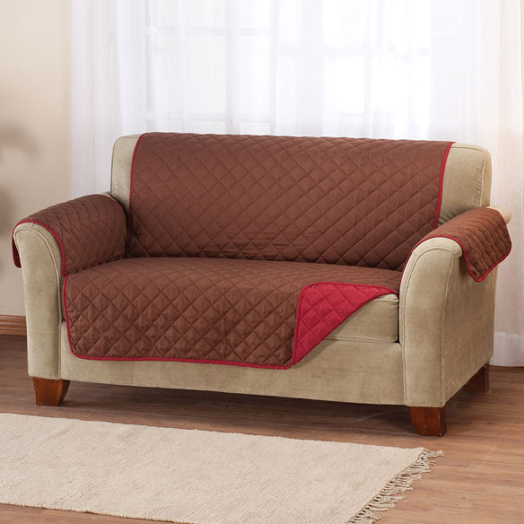 Reversible Microfiber Loveseat Cover