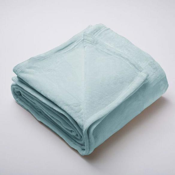 Silana Collection Ultra Plush Solid Blanket, Full/Queen, Blue Surf