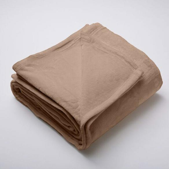 Silana Collection Ultra Plush Solid Blanket, King, Latte