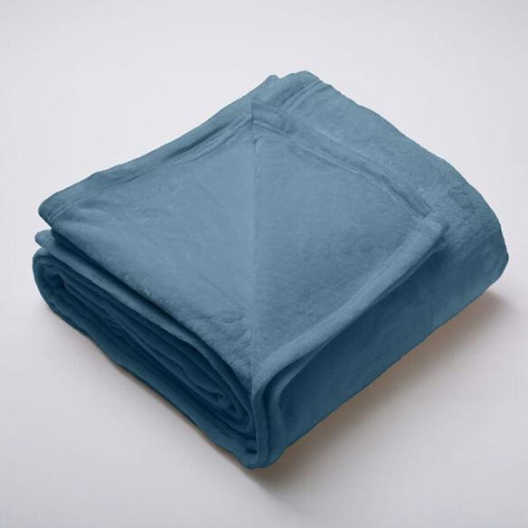 Silana Collection Ultra Plush Solid Blanket, Full/Queen, Teal