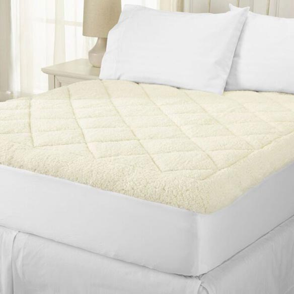 All Seasons Reversible Sherpa Luxury Mattress Pad - View 2
