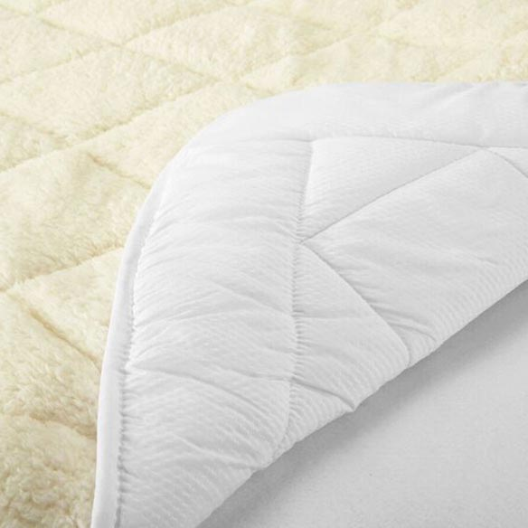 All Seasons Reversible Sherpa Luxury Mattress Pad - View 3