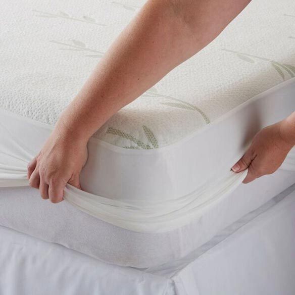 Bamboo Hypoallergenic Waterproof Mattress Protector - View 3