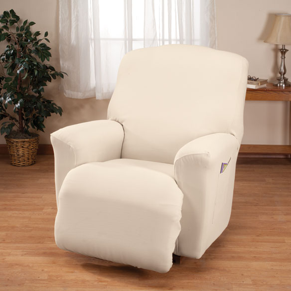 Corduroy Recliner Stretch Furniture Cover - View 3