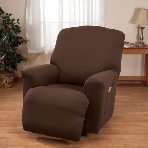 Corduroy Recliner Stretch Furniture Cover - View 4