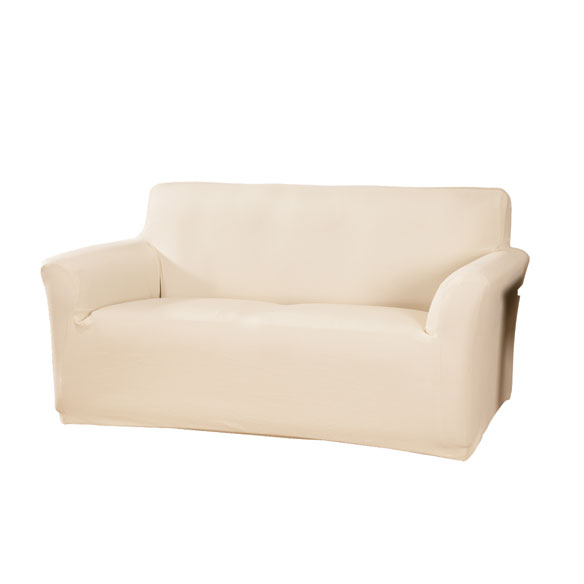 Corduroy Loveseat Stretch Furniture Cover - View 2