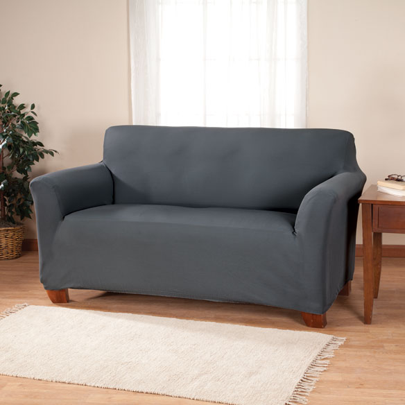 Corduroy Loveseat Stretch Furniture Cover - View 3
