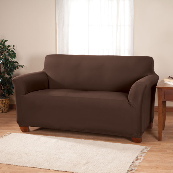 Corduroy Loveseat Stretch Furniture Cover - View 4