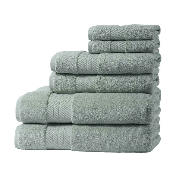 Geneva Collection 6-Piece Luxury Towel Set - View 3