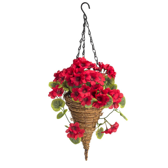 Fully Assembled Geranium Hanging Basket by OakRidge™ Outdoor - View 2